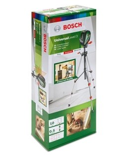 Лазерен нивелир с кръстосани линии и отвес + статив BOSCH UniversalLevel 2 Set, до 10м