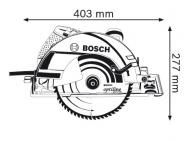 Ръчен циркуляр BOSCH GKS 235 Turbo Professional, 2050W, 235мм